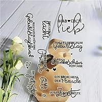 スクラップブッキング/お祝いのためのドイツのクリアスタンプ甘い妖精の感情シリコンカード作成弾丸ジャーナルスタンプ071