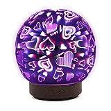 STRIR Humidificador Aromaterapia Ultrasónico 100ml,Bola de cristal 3D Difusores Aceites Esenciales con 7-Color LED,Auto-Apaga, Difusor de Aroma Aceites Esenciales de Vapor Frío