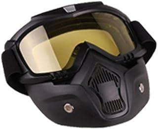 fghfhfgjdfj Máscara de Gafas de Motocicleta Todoterreno Harley Casco Gafas tácticas Gafas de esquí a Prueba de Viento Equipo de Accesorios para Montar (Amarillo)