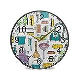 XiangHeFu Reloj de Pared sin tictac Sala de Estar Escuela Co