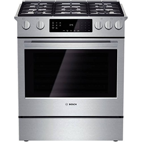 Bosch HGI8054UC 800 30' Stainless Steel Gas Slide-In Sealed Burner Range - Convection