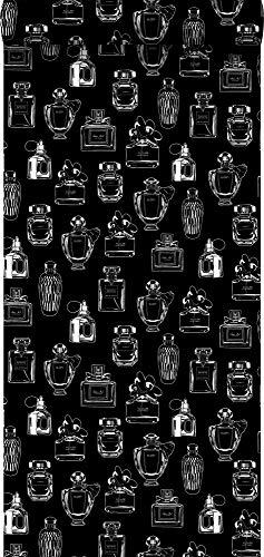 behang parfum flesjes zwart en wit - 128827 - van ESTAhome