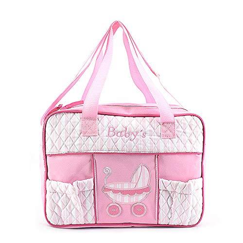 GoodFaith Henkeltasche Windeltasche Große Kapazität Tasche Kinderwagen Schulter Wickeltaschen Niedliche Tasche für Mama Mutter Babys Damen