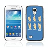 CelebrityCase Polycarbonate Hard Back Case Cover for Samsung Galaxy S4 MINI ( Funny Hand Sign Poster )