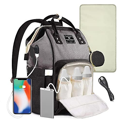 ComfyDegree Baby Changing Bag Backpack Waterproof Multi-Function Large Capacity Diaper Bag...