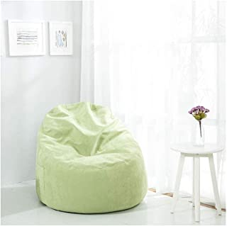 RKRCXH Living Room Beanbag Home Bean Bag Cover Sofa Slipcover Indoor Living Room Gamer Bean Bags Suitable For Living Room  Bedroom  Color Green  Size 29 5x29 5x13 8in