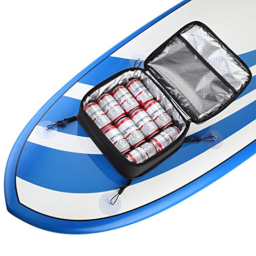 THURSO SURF SUP Deck Bag Paddle Board Cooler Mesh Top Water-Resistant Insulated with Waterproof Phone Pouch (10 Can)