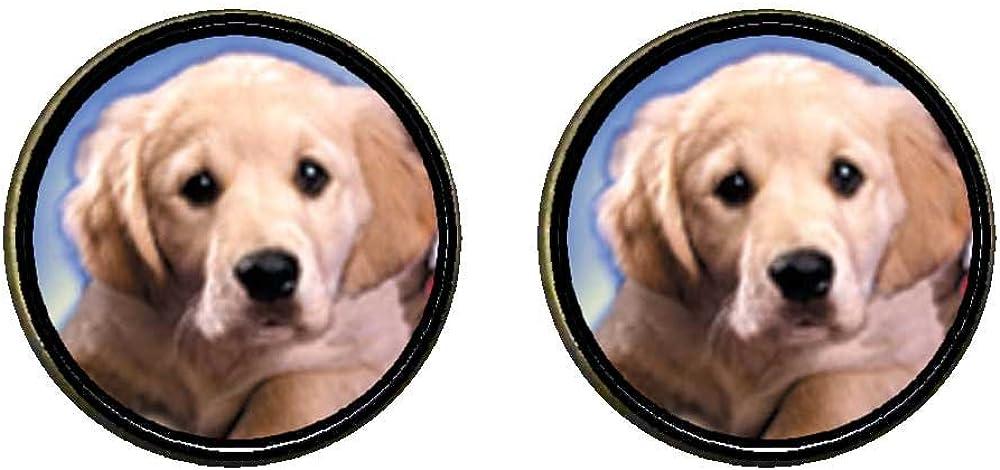 GiftJewelryShop Bronze Retro Style White Puppy Photo Clip On Earrings 14mm Diameter