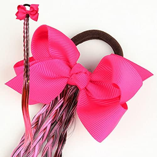 XKMY Bridas elásticas para el pelo para niñas y niñas, trenzas falsas para coletas, diademas coloridas pelucas trenzadas con lazo (color : I)