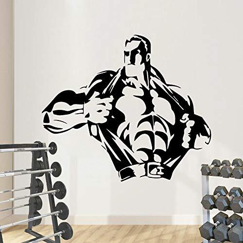 wZUN 2psc Kreative Fitness Wandaufkleber abnehmbare Wandaufkleber Dekoration 28X32cm