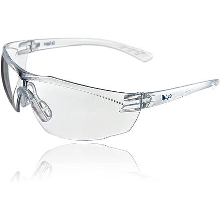 Dräger occhiali prottetivi X-pect 8320 | Occhiali di sicurezza leggeri e commodi con un ampio campo visivo | Adatto per cantiere, laboratorio e bici | Antippannamento, antigraffio, trasparente | 1 pz.