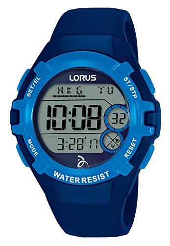 Lorus Unisex Erwachsene Digital Quarz Uhr mit Silikon Armband R2391LX9