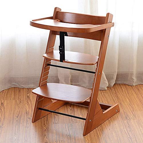 Kinderstoel voor baby's en peuters Booster stoel voor Eettafel Verstelbare Babystoelen voor zittend Hout Kruk voor Studie Bureau (Kleur : Wit)