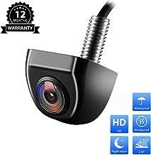 MicarBa Cámara de Seguridad HD visión Nocturna 170 Grados Ojo de pez cámara de visión Trasera de estacionamiento cámara de Aparcamiento Impermeable para Coche cámara de Marcha atrás (CL404U)