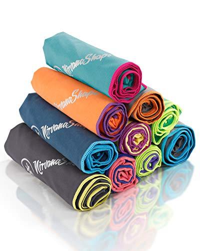 NirvanaShape  Toalla de Microfibra | 14 Colores | 8 Dimensiones | Toalla de Viaje Ligera, Absorbente y de Secado Rápido | Toalla de Baño para Viajes | Ideal para Playa, Camping, Yoga y Sauna
