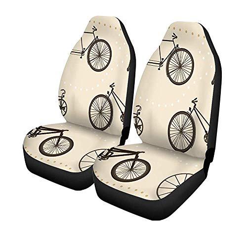 Set met 2 stoelhoezen voor auto, fiets, silhouetten voor fietsen, tandems, driewieler, spoke-stoelen, universeel, automatisch, voorbescherming, 14-17 inch