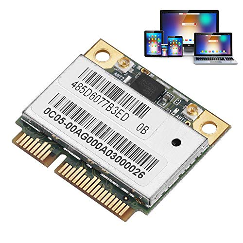 Oumij AR9280/AR5BHB92 Wifi-kaart, dual-band, 2,4 G/5 GHz (300 Mbps), 802.11 ABGN Mini PCI-E WLAN-netwerkkaart, voor Windows XP, Windows 7, Windows 8, Windows 8.1, Windows 10, Linux, Mac
