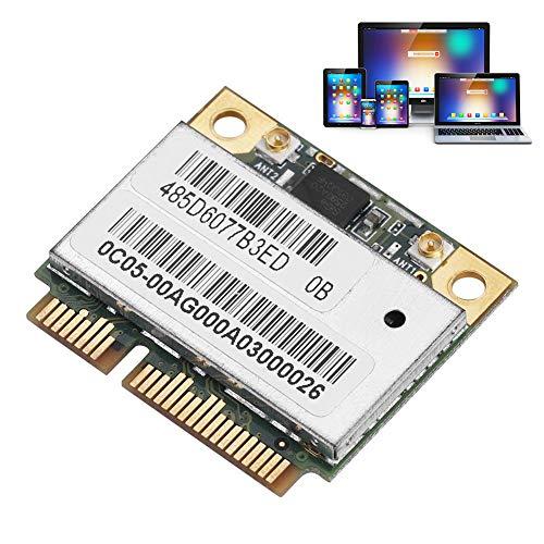 Oumij WiFi Karte AR9280/AR5BHB92 - Dual Band 2,4 G / 5 GHz(300 Mbps) - 802.11ABGN Mini PCI-E WLAN Netzwerkkarte,für Windows XP, Windows 7, Windows 8, Windows 8.1, Windows 10, Linux, Mac