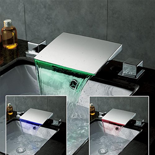 Xie (Full Cuivre LED cascade lavabo robinet Pots de plate-forme Plus haute LED robinet