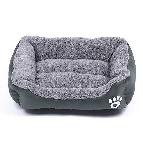 Hundekissen Hundematratze für kleine mittlere große Hunde, orthopädisches Hundebett kuschelig Schlafplatz -Dunkelgrün_S-45 * 40 cm