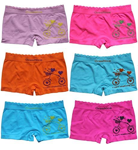 BestSale247 6 Stück Mädchen Pantys Hipster Shorts Boxershorts Girls Unterhosen (134-146)