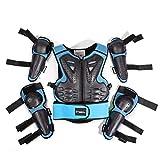 N/A 5pcs/traje de motocicleta equipo protector de protección para niños traje deportivo de cuerpo completo armadura pecho ropa rodilleras codo aplicable para 5-13 años de edad