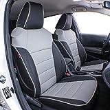 EKR Custom Fit Full Set Seat Cover for Select Toyota RAV4 2019 2020 2021(NOT for Hybrid) - Leatherette (Black/Gray)