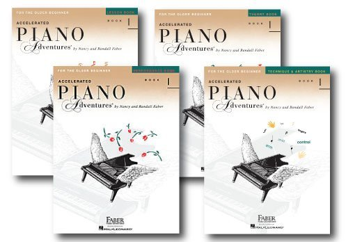 Accelerated Piano Adventures Level 1 - Four Book Learning Library - Includes Lesson, Theory, Performance, and Technique & Artistry Books
