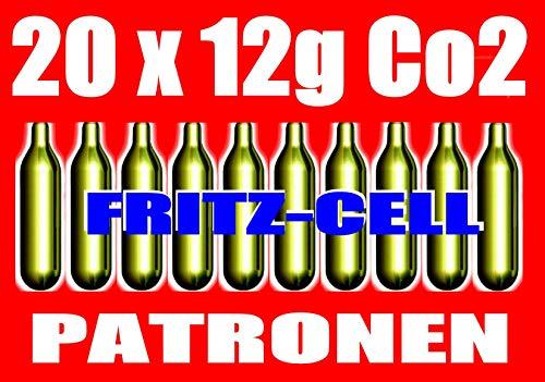 fritz-cell 20 12g Co2 Kapseln für Softair, Painball, Luftpistolen oder Luftgewehre