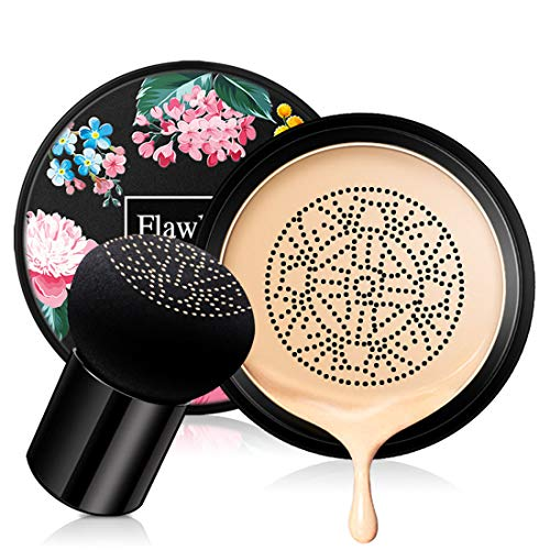 Mushroom Head Air Cushion CC Cream, Concealer Lasting Nude Makeup Moisturizing BB Liquid Foundation, Even Skin Tone Makeup Base Primer