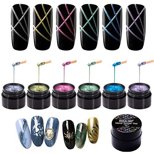 ROSALIND Spider Gel Metall Spinne Gel Pull Draht für Nail Art Design Acryl Nagel Paste Malerei Dekoration Zeichnen Seide Lack brauchen UV Trockner Lampe