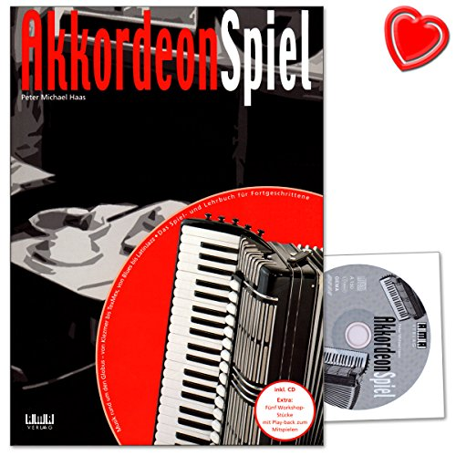 Akkordeon Spiel Band 2 - erste Akkordeon-Schule für Fortgeschrittene von Peter Michael Haas - Notenbuch mit CD und Peter Michael Haas 610302 4018262103021