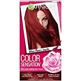 Garnier Color Sensation Hair Color Cream, 6.60 Where There's Smoke (Intense Fiery Red)