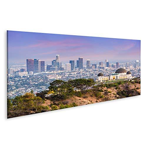islandburner, Cuadros de Salon Los Angeles, California, EE.UU, Centro de la Ciudad Desde Griffith Park. Cuadro Decoracion de Pared Impresión en Lienzo Formato Grande Modernos PKF-Pano-N