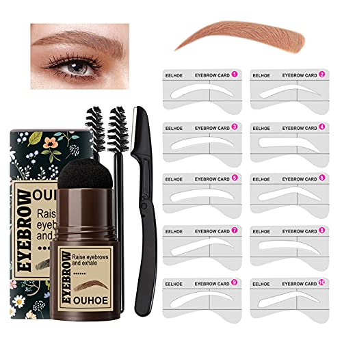 Eyebrow Stamp Stencil Kit, One Step Brow Stamp and Shaping Kit, 10...