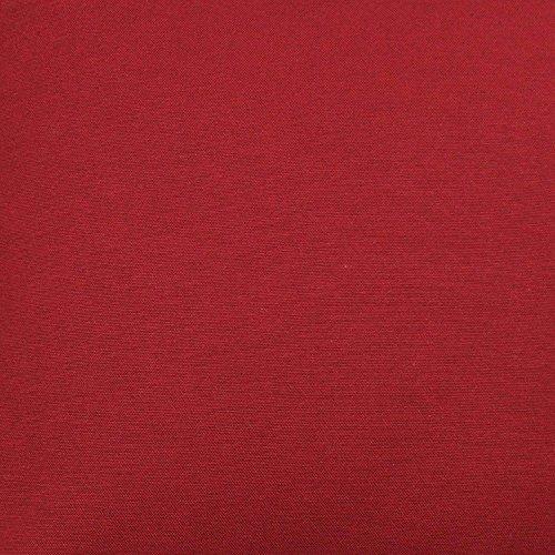McAlister Textiles Tessuto al Metro Tinta Unita Misto Cotone Panama   Vari Colori Stoffa Cucito Tappezzeria   Decorazioni Arredamento Casa   Rosso   Al Mezzo Metro 50x140cm
