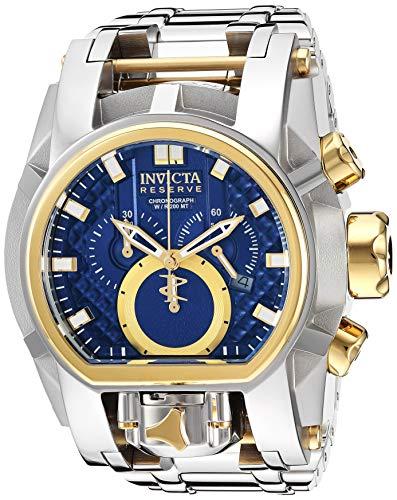 Relógio masculino Invicta Reserve Quartz com pulseira de aço inoxidável, prata, 37 (modelo: 25205)