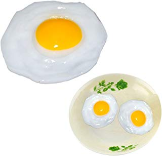 GlobalDeal 3 Pack Fake Fried Egg Food Simulation Children Play Toy Anti Stress Anxiety Relief Car Decor