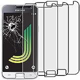 ebestStar - [Lote x3 Cristal Templado Compatible con Samsung J3 2016 Galaxy SM-J320F Protector de Pantalla, Película Vidrio Dureza 9H, Sin-Burbujas [Aparato: 142.3x71x7.9mm 5.0']