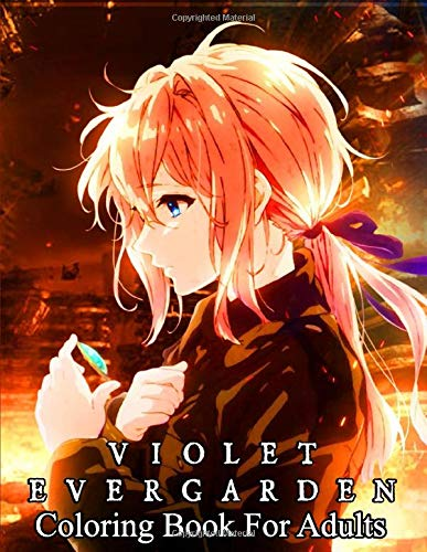 violet evergarden Coloring Book for adults