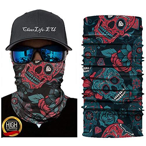 Multifunktionstuch Maske Schutzmaske 3D Bedrucktes Masken Halstuch Mundschutz UV-Staubschutz Sturmhaube Nahtlose Bandana Damen Herren, Atmungsaktiv Face Shield Kopftuch Quick Drying Stirnband