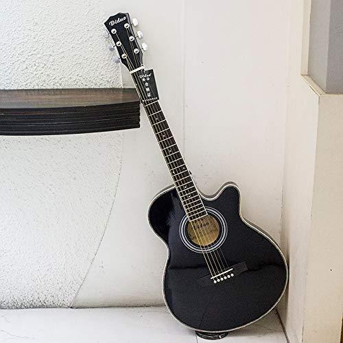 SUNXK 40 Pulgadas Ultra-Delgado Cuerpo del Barril Guitarra acústica for los Principiantes a la práctica del Piano Guitarra acústica Estudiantes Masculinos y Femeninos
