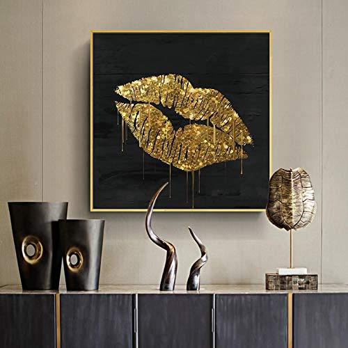 Leinwand Wandmalerei Modern Black Gold Luxus Poster Geometrische Zusammenfassung Nordic Art Print Bild Wohnzimmer Home Decoration-30x30cm No Frame