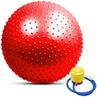 TOMSHOO - Palla da yoga anti-scoppio, elevata stabilità, per pilates, fitness, ginnastica, 55 cm/65 cm/75 cm, pompa ad...