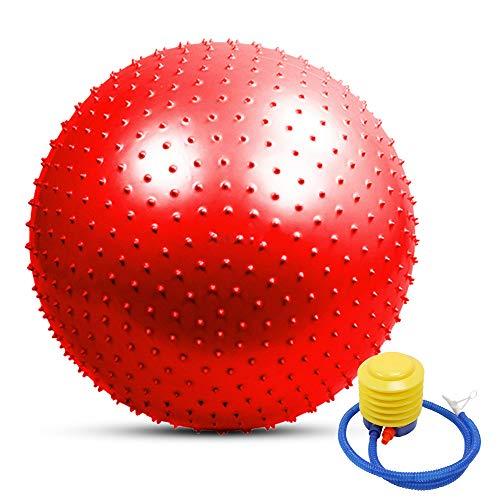 TOMSHOO Pelota de yoga antipinchazos, engrosada, estabilidad, pelota de equilibrio, pilates, fitness, gimnasia, 55 cm/65 cm/75 cm, regalo bomba de aire