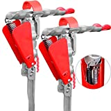 Automatic Double Spring Fishing Rod Holder 2 Pack, Stainless Steel for Bank Ground Support Brackets, Adjustable Sensitivity & Spring Area Safeguard & Folding Fishing Pole Stand Holders Rack