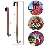 LBSUN L-05, Adjustable Hanger Holder & Wreath Hook Door, Bronze