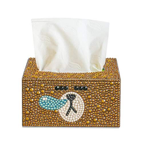 Funda para caja de pañuelos, soporte de pañuelos de pintura de diamante, soporte de caja de pañuelos rectangular, caja de pañuelos para mesitas de noche, encimera, dormitorio