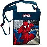 Star Marvel Spiderman Sac et Sac à Main imprimé sur l'épaule carrée, Dimensions : 16,5 x 21 cm
