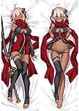 Fate / Grand Order 88024 Okita Souji Alter Almohadilla de anime / Funda de almohada de cuerpo, Patrón de doble cara Piel de melocotón / Caja de almohada de 2WT, fanáticos de anime Fans 'Cubiertas favo